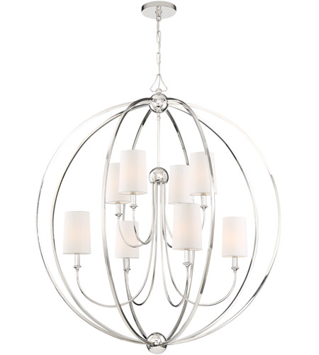 Crystorama 2246 PN Sylvan 8 Light 40 Inch Polished Nickel Chandelier Ceiling Photo