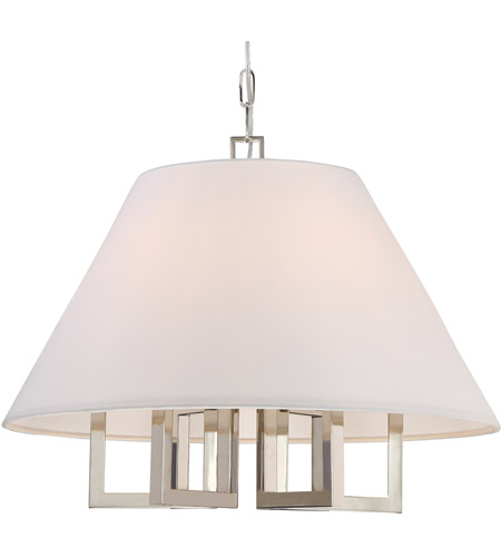 Westwood 6 Light 24 Inch Polished Nickel Chandelier Ceiling