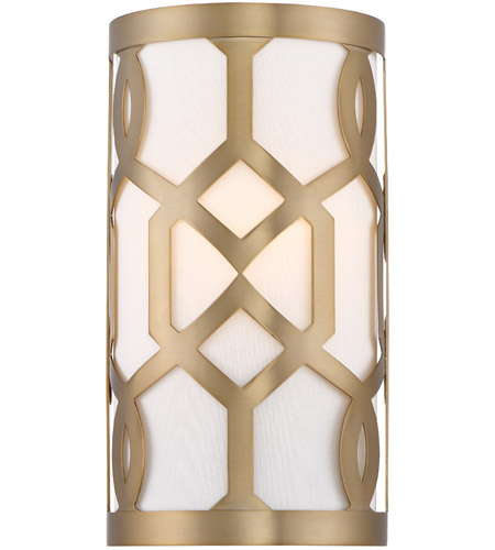 Crystorama 2262-AG Jennings 1 Light 7 inch Aged Brass ADA Wall Sconce Wall Light in Aged Brass (AG) photo