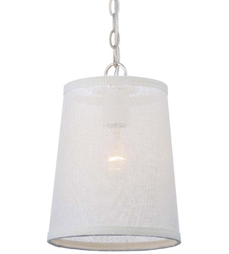 Crystorama 2290-PN Culver 1 Light 8 inch Polished Nickel Pendant Ceiling Light photo