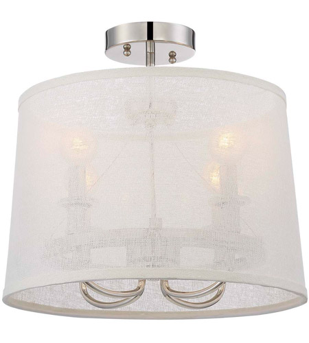 Crystorama 2294-PN_CEILING Culver 4 Light 15 inch Polished Nickel Chandelier Ceiling Light photo