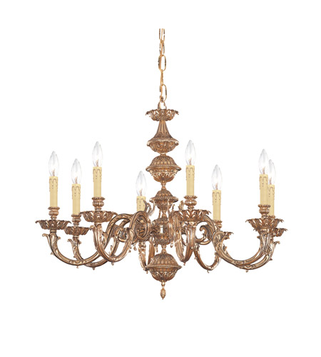 Crystorama 2408-OB Oxford 8 Light 32 inch Olde Brass Chandelier Ceiling Light in Olde Brass (OB) photo