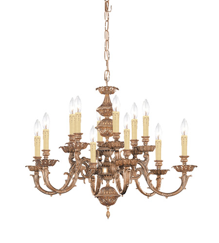 Crystorama Oxford 12 Light Chandelier in Olde Brass 2412-OB photo