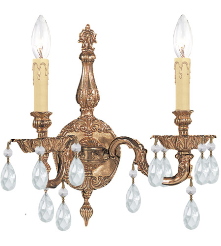 Crystorama Cortland 2 Light Wall Sconce in Olde Brass 2502-OB-CL-MWP photo