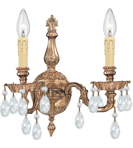 Crystorama Cortland 2 Light Wall Sconce in Olde Brass 2502-OB-CL-S photo