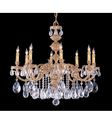 Crystorama Oxford 8 Light Chandelier in Olde Brass, Clear Crystal, Swarovski Spectra 2508-OB-CL-SAQ photo