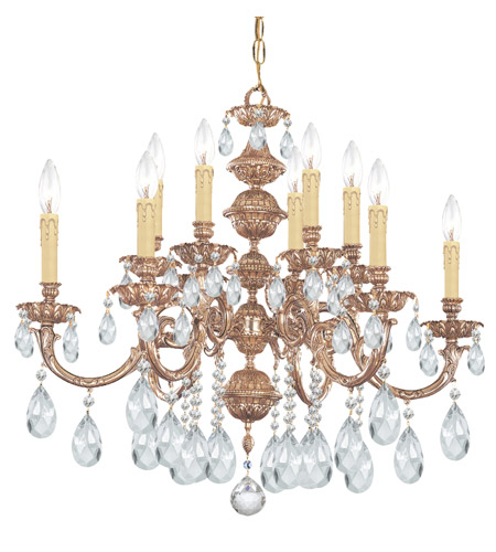 Crystorama Oxford 12 Light Chandelier in Olde Brass 2512-OB-CL-S photo