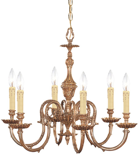Crystorama Novella 6 Light Chandelier in Olde Brass 2606-OB photo