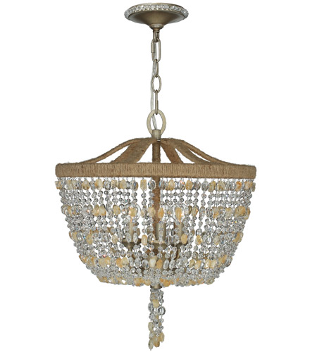 Crystorama Eva 3 Light Chandelier in Burnished Silver 267-BS photo