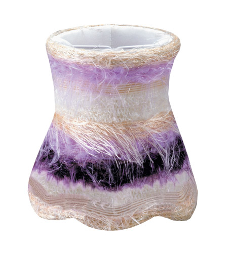 Crystorama Mini Shade Wall Sconce in Purple 26SH-PURPLE photo