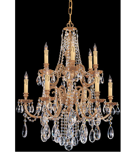 Crystorama 2712-OB-CL-MWP Novella 12 Light 26 inch Olde Brass Chandelier Ceiling Light photo