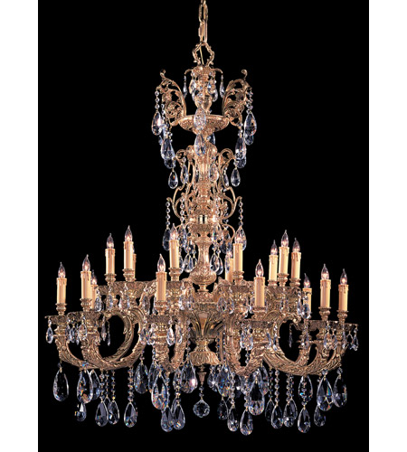 Crystorama Kensington 20 Light Chandelier in Olde Brass, Clear Crystal, Swarovski Spectra 2715-OB-CL-SAQ photo