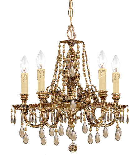 Crystorama 2805-OB-GTS Novella 5 Light 18 inch Olde Brass Mini Chandelier Ceiling Light in Swarovski Elements (S) photo