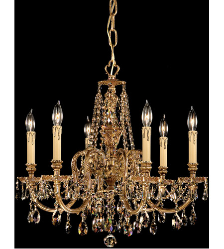 Crystorama Novella 6 Light Chandelier in Olde Brass 2806-OB-GT-MWP photo