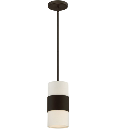 Crystorama 290-DB Grayson 1 Light 6 inch Dark Bronze Pendant Ceiling Light in Dark Bronze (DB), Cream Linen photo