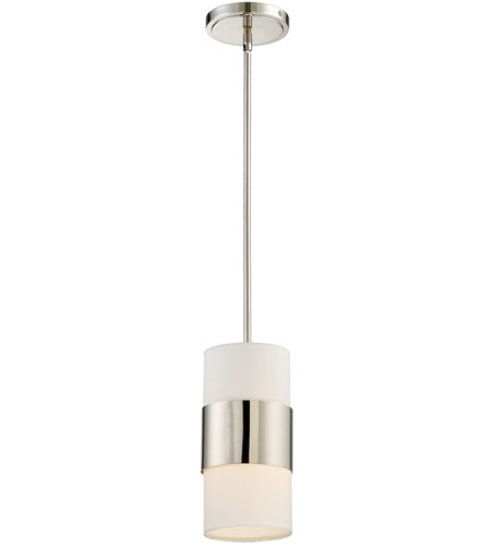 Crystorama 290-PN Grayson 1 Light 6 inch Polished Nickel Pendant Ceiling Light in Polished Nickel (PN), White Silk photo