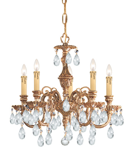 Crystorama 2905-OB-CL-S Novella 5 Light 18 inch Olde Brass Mini Chandelier Ceiling Light in Clear Swarovski Strass photo
