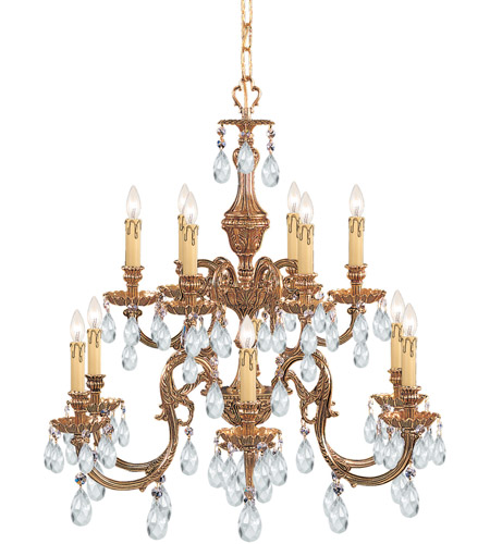 Crystorama 2912-OB-CL-SAQ Novella 12 Light 26 inch Olde Brass Chandelier Ceiling Light in Swarovski Spectra (SAQ) photo