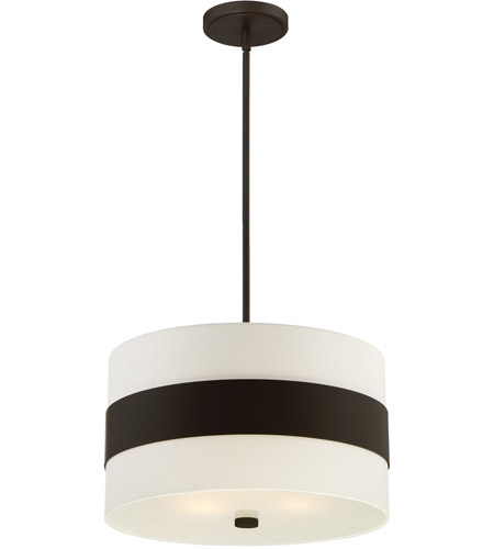 Crystorama 295-DB Grayson 3 Light 18 inch Dark Bronze Pendant Ceiling Light in Dark Bronze (DB), Cream Linen photo