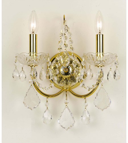 Crystorama Imperial 2 Light Wall Sconce in Gold 3222-GD-CL-SAQ photo