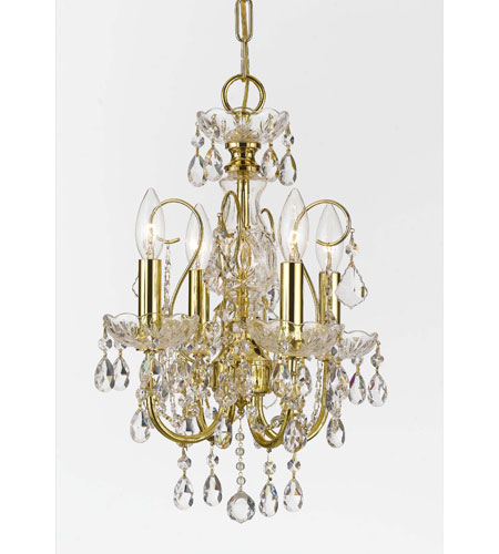 Crystorama Imperial Collection 4 Light Mini Chandelier in Gold 3224-GD-CL-MWP photo