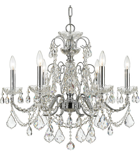 Polished Chrome Steel?Crystal Chandeliers
