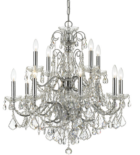 Crystorama Imperial 12 Light Chandelier in Polished Chrome, Hand Cut 3228-CH-CL-MWP photo