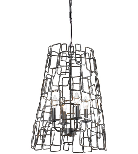 Crystorama 325-RS Lattice 4 Light 16 inch Raw Steel Chandelier Ceiling Light photo