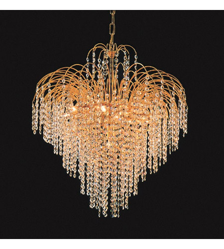 Crystorama Shower 12 Light Chandelier in Gold 3615-GD-CL-MWP photo