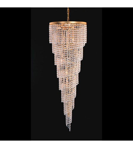Crystorama Lighting Shower 6 Light Chandelier in Gold & Hand Cut Clear Crystal 3700-GD-CL-MWP photo