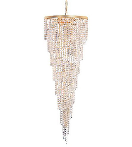 Crystorama Shower Chandelier in Gold 3710-GD-CL-SAQ photo