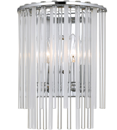 Crystorama 392-CH Bleecker 2 Light 9 inch Polished Chrome Wall Sconce Wall Light photo