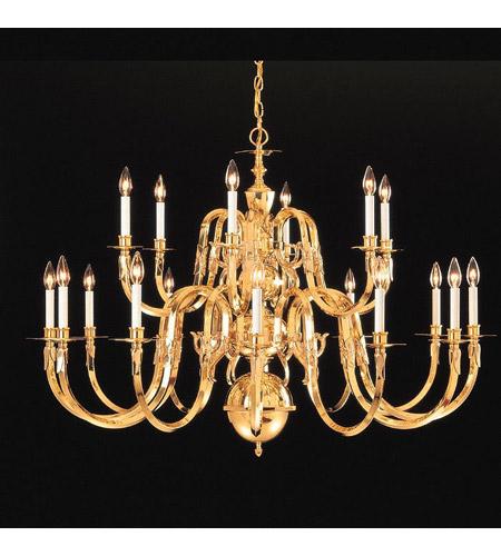 Crystorama lighting williamsburg 18 light chandelier in polished crystorama lighting williamsburg 18 light chandelier in polished brass 419 48 18 aloadofball Image collections
