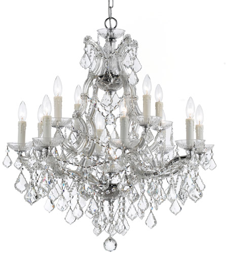 Crystorama Maria Theresa 13 Light Chandelier in Polished Chrome 4412-CH-CL-S photo