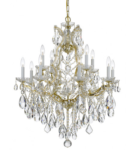 Crystorama Maria Theresa 13 Light Chandelier in Gold, Hand Cut 4413-GD-CL-MWP photo