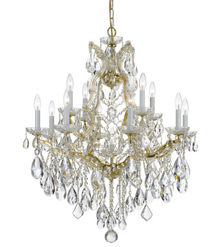 Crystorama 4413-GD-CL-S Maria Theresa 13 Light 28 inch Gold Chandelier Ceiling Light in Gold (GD), Clear Swarovski Strass photo