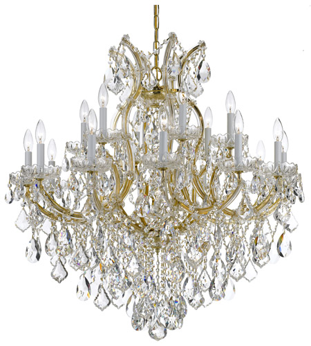 Crystorama 4418-GD-CL-MWP Maria Theresa 19 Light 35 inch Gold Chandelier Ceiling Light in Gold (GD), Clear Hand Cut photo