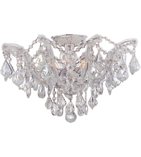 Crystorama Maria Theresa 5 Light Semi-Flush Mount in Polished Chrome 4437-CH-CL-MWP photo