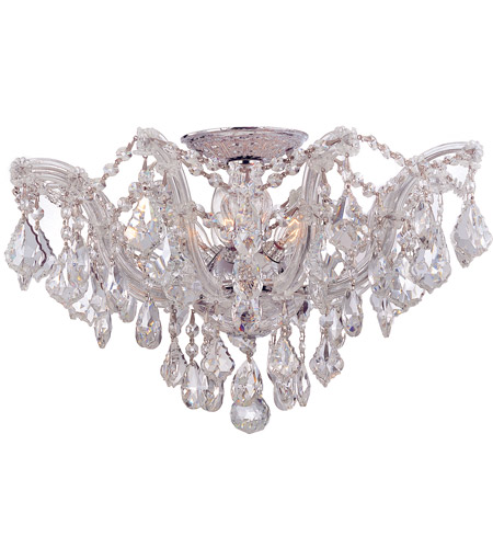 Crystorama 4437-CH-CL-S Maria Theresa 5 Light 19 inch Polished Chrome Semi Flush Mount Ceiling Light in Polished Chrome (CH), Clear Swarovski Strass photo