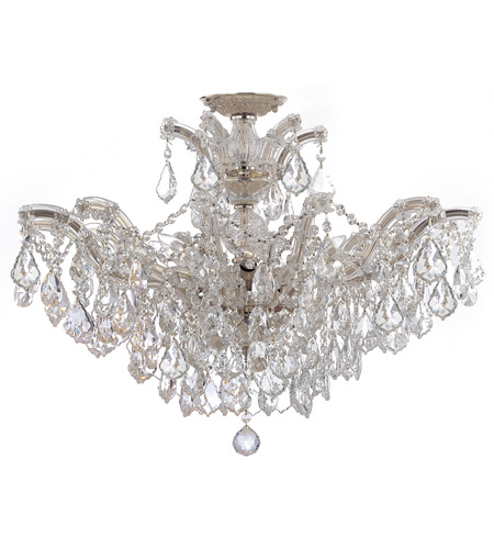 Crystorama 4439-CH-CL-SAQ_CEILING Maria Theresa 6 Light 27 inch Polished Chrome Semi Flush Mount Ceiling Light in Swarovski Spectra (SAQ), Polished Chrome (CH) photo