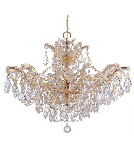 Crystorama Maria Theresa 6 Light Chandelier in Gold, Clear Crystal, Swarovski Spectra 4439-GD-CL-SAQ photo