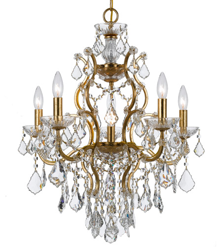 Crystorama 4455-GA-CL-MWP Filmore 6 Light 23 inch Antique Gold Chandelier Ceiling Light in Hand Cut, Antique Gold (GA) photo