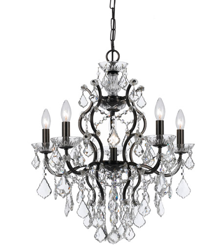 Crystorama Filmore 6 Light Chandelier in Vibrant Bronze 4455-VZ-CL-S photo