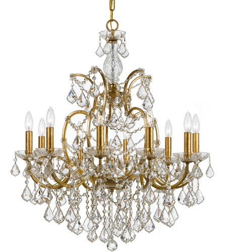 Crystorama 4458-GA-CL-MWP Filmore 10 Light 28 inch Antique Gold Chandelier - Crystorama 4458-GA-CL-MWP Filmore 10 Light 28 Inch Antique Gold