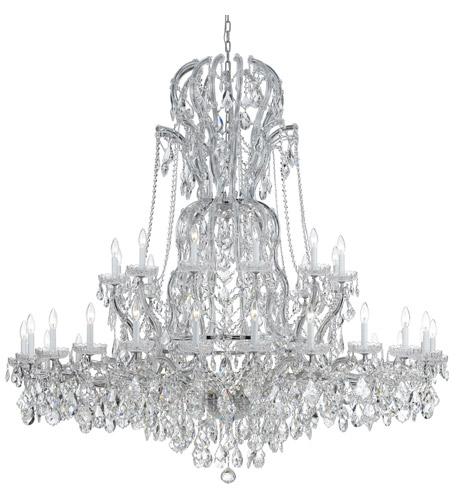 Crystorama 4460-CH-CL-SAQ Maria Theresa 37 Light 64 inch Polished Chrome Chandelier Ceiling Light in Swarovski Spectra (SAQ) photo