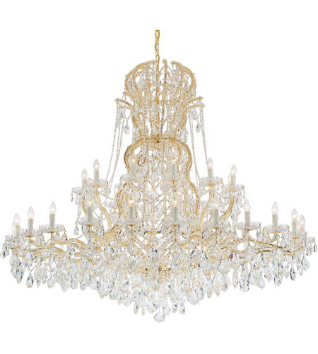 Crystorama Maria Theresa 37 Light Chandelier in Gold 4460-GD-CL-SAQ photo