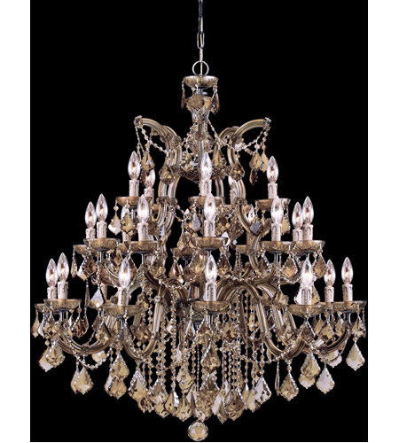 Crystorama Maria Theresa 26 Light Chandelier in Antique Brass 4470-AB-GT-MWP photo