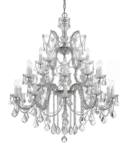 Crystorama Maria Theresa 26 Light Chandelier in Polished Chrome, Clear Crystal, Hand Cut 4470-CH-CL-MWP photo