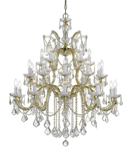 Crystorama 4470-GD-CL-SAQ Maria Theresa 26 Light 38 inch Gold Chandelier Ceiling Light in Clear Crystal (CL), Swarovski Spectra (SAQ), Gold (GD) photo