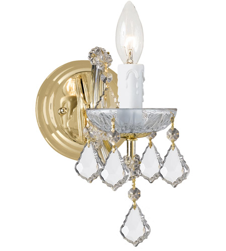 Crystorama Maria Theresa 1 Light Wall Sconce in Gold 4471-GD-CL-S photo